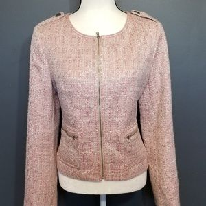 TALBOT'S Pink and white blend Blazer NWT